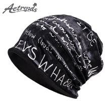 [AETRENDS] 2018 New Winter Beanies Hats Multi Function Hip Hop Caps Collar Scarf Retro Design Neck Warmer Ring Scarves Z-6122