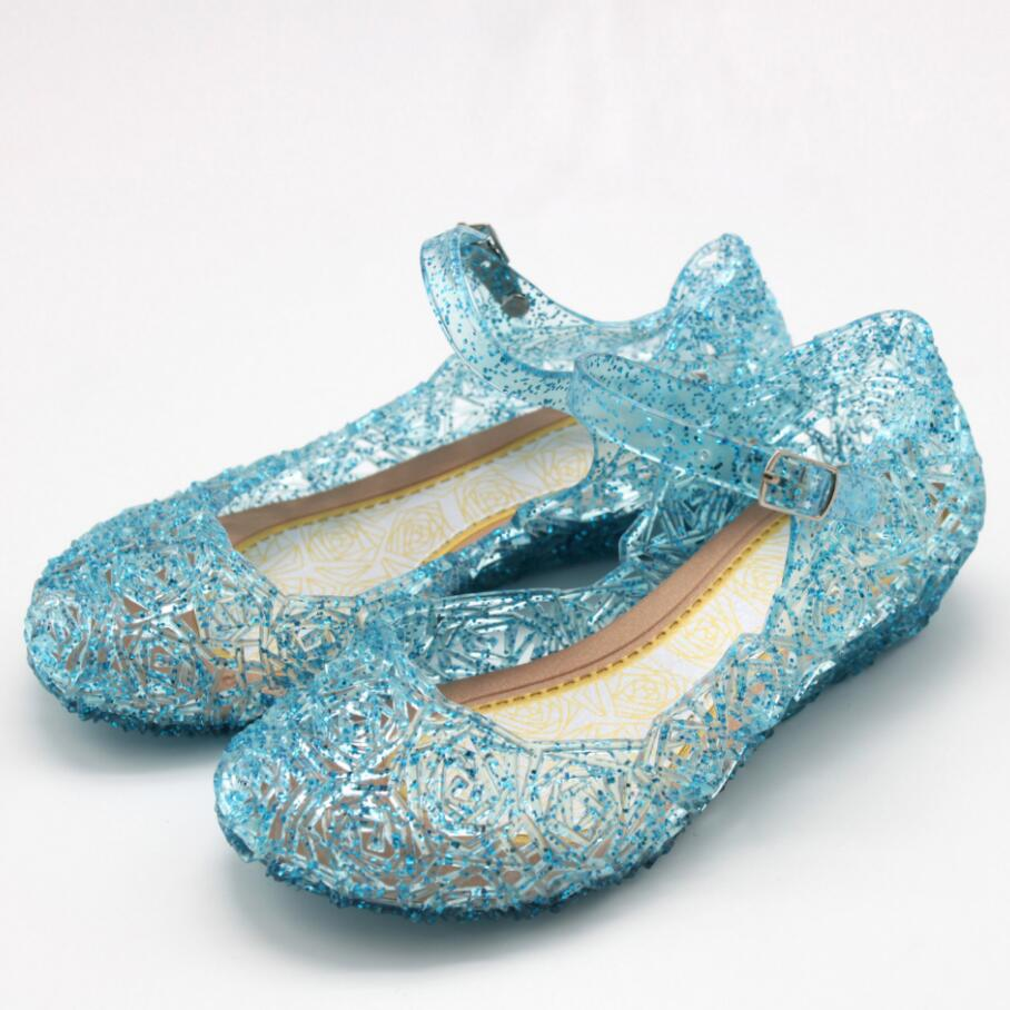 Baby Shoes Girls Sandals Anna Elsa Kids Baby Shoes Elsa Princess and Cosplay Shoes Party and Comfortable