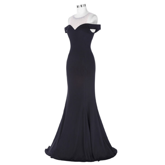 Online-Shop Kate Kasin Long Black Prom Kleid Vestido de Festa Boden ...
