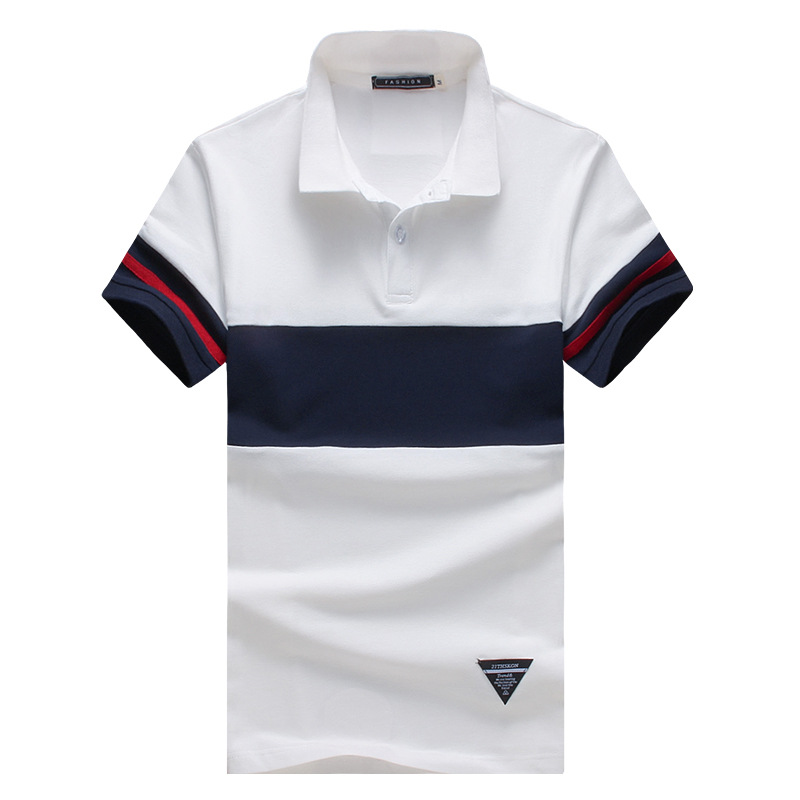 Male Golf Clothing Men New Polo Collar Shirt Summer Short Sleeve Polo shirts Breathable Stitching Top Tees M-5XL