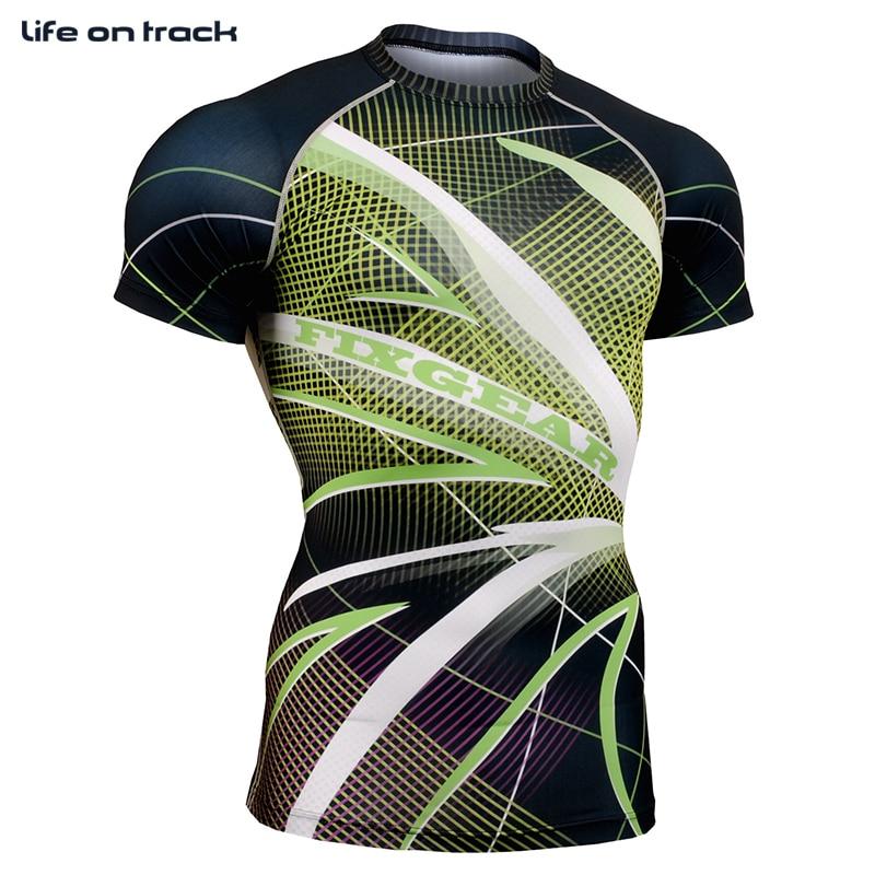 Life on Track Tights da uomo Manica corta Fitness Compression Strato - Abbigliamento sportivo e accessori