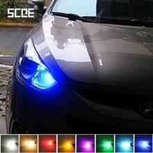 SCOE автомобильный Стайлинг 2x6SMD W5W светодиодный Передний Габаритный светильник лампа источник для hyundai Elantra Veloster Tucson Genesis 2013