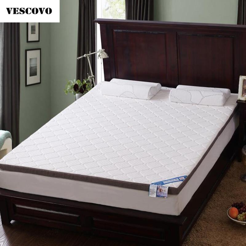 VESCOVO Thick Memory Foam Mattress Topper Tatami Folding High Density Of Students Mattresses Topper Bed