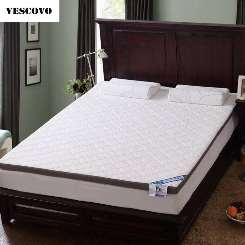 huge selection of 4dd79 80506 US $98.0 30% OFF|VESCOVO Thick memory foam mattress topper tatami folding  high density of students mattresses topper bed-in Mattresses from Furniture  ...