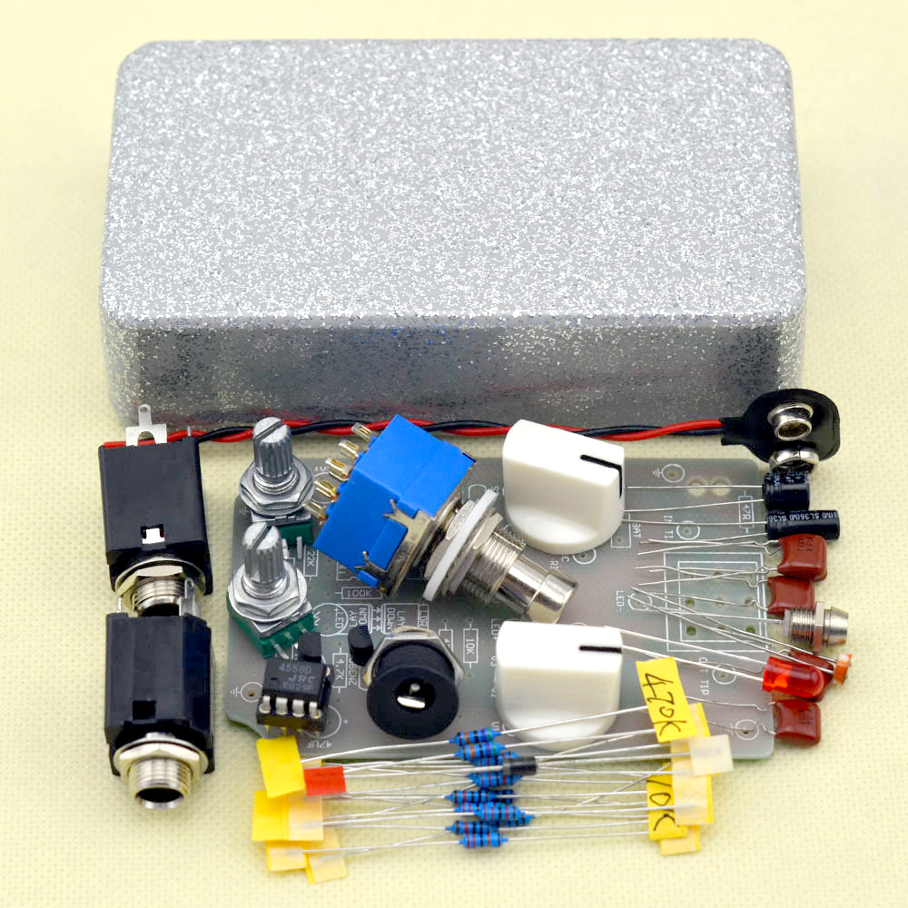 buy diy compressor effect pedal guitar stomp pedals kit true bypass free. Black Bedroom Furniture Sets. Home Design Ideas