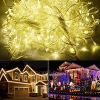 Superior 100M 600 LED Warm White Lights Decorative Wedding Fairy Christmas Tree Party Twinkle String Lighting