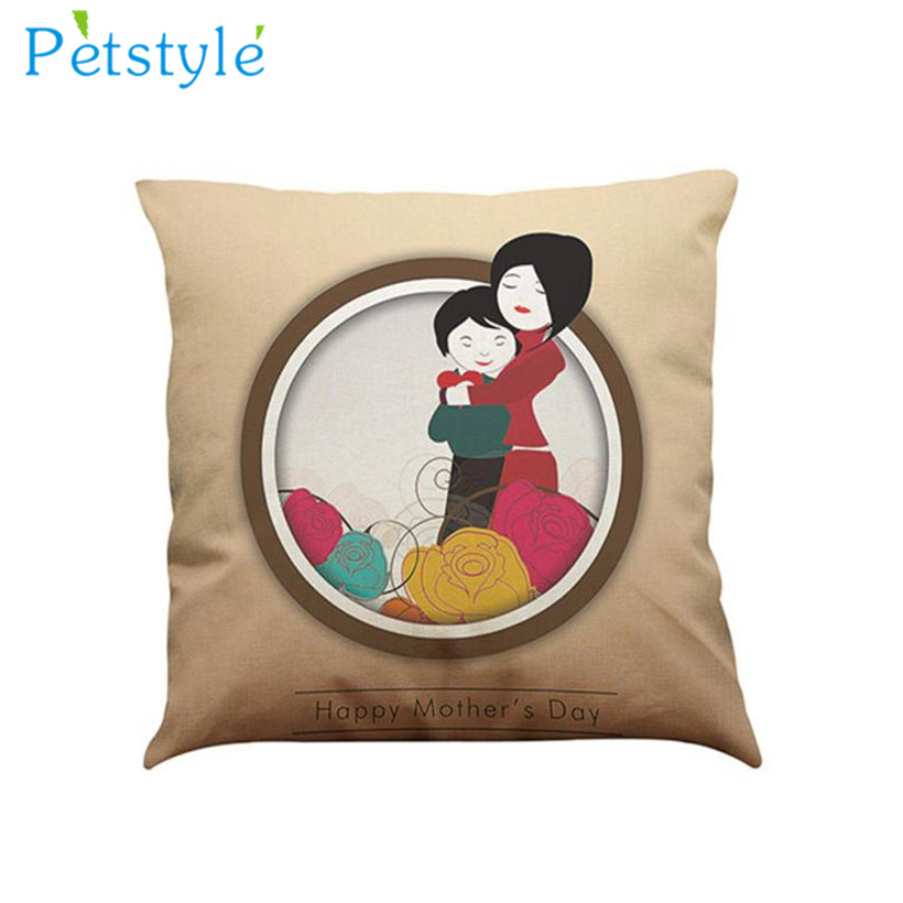 Hot New I Love You Mom Sofa Bed Home Decoration Festival Pillow Case Cushion Cover Dia de la Madre Jour Pillow Mere Festa !2