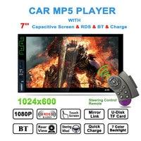 7 Mp5 Player 2 Din Car Radio K9b Bluetooth Stereo Audio Rds Fm Radio Tuner Mirror Link Steering Wheel Remote Control Autoradio
