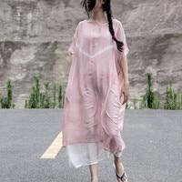 Elegant Short Sleeves 100% Real Silk Dress Women's Summer Party Dress 2018 Casual Vintage Solid Color Women Dresses Robe Longue