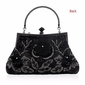 Image 4 - THINKTHENDO  Retro Style Beaded Embroidery Evening Clutch Bag Clutch Bridal Wedding Party Purse Handbag Women Luxury