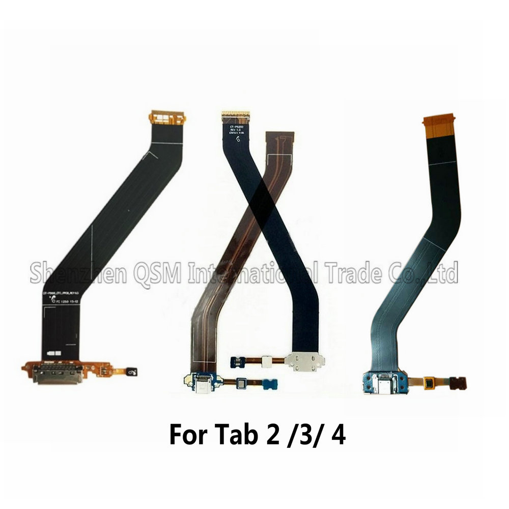 <font><b>USB</b></font> Dock Connector Charger Charging Port Flex Cable Ribbon For <font><b>Samsung</b></font> Galaxy Tab 2 <font><b>P5100</b></font> P5110 Tab 3 P5200 P5210 4 T530 image