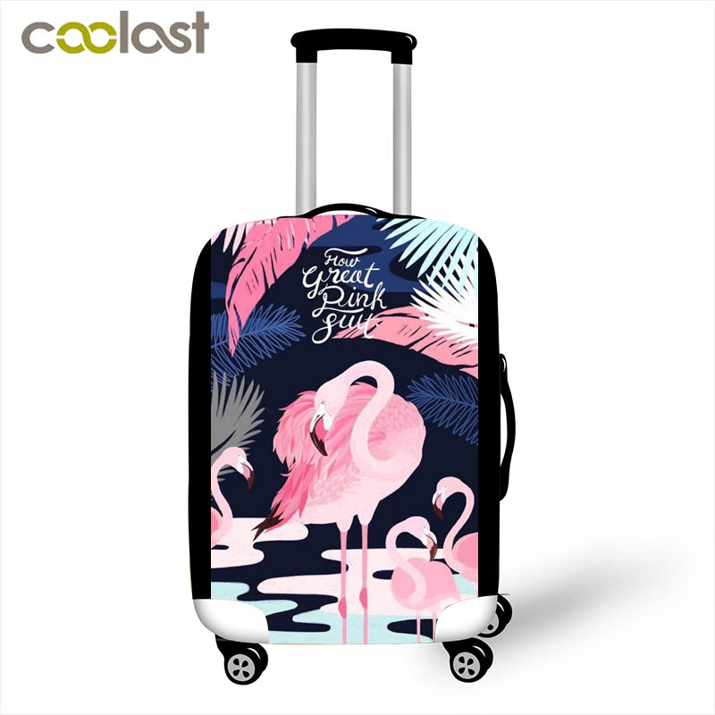 Beautiful Flamingo Luggage Protective Cases For 18 28