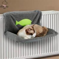 Cat Kitty Warm Hammock Bed Pet Hammocks Hanging Bed Soft Fleece Cat Beds Winter Warm Cat Window House Sofa