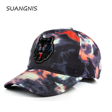 2019 High quality Wolf  embroidery  Baseball Caps men Breathable Snapback caps Unisex sun hat for men bone Casquette trucker cap 2017 new arrival high quality snapback cap cotton baseball cap true north canada maple embroidery hat for men women unisex caps