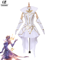 ROLECOS New Game LOL Luxanna Crownguard Cospaly Costumes Elementalist Lux Light Element Skin Cosplay Costumes Custom