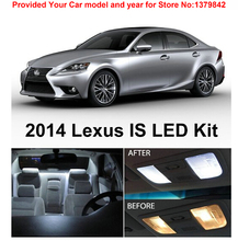 Free Shipping 11Pcs/Lot Xenon White Premium Package Kit LED Interior Lights For Lexus IS250 IS350 ISF 2014