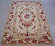 Квадратный Модный американский деревенский диван журнальный столик плюс размер утолщение цветок ковер 2,25 европейские и американские ковры 100% шерсть