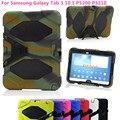 Ударопрочный Жесткий чехол Военная Heavy Duty Прочный Силиконовый Стенд Обложка Для Samsung Galaxy Tab 3 10.1 P5200 P5210 + фильм + ручка + OTG