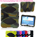 Shockproof Hard case Military Heavy Duty Silicone Rugged Stand Cover For Samsung Galaxy Tab 3 10.1 P5200 P5210+film+pen+OTG