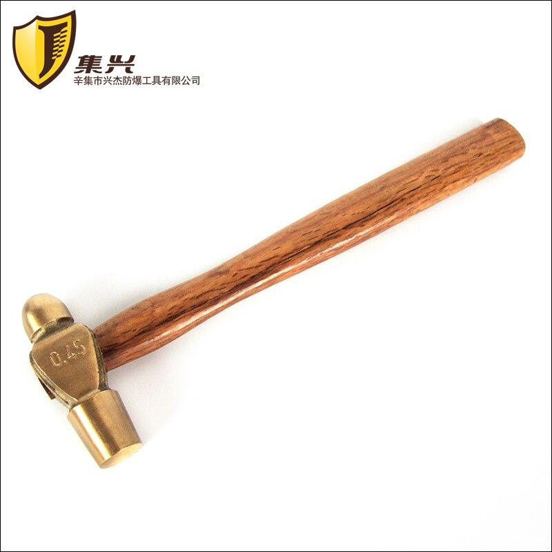 0,45 Kg/1lb, 0,68 Kg/1.5lb, Ball Pein Hammer, Messing Runde Kopf Hammer, Nicht-funken, Sicherheit Hand Werkzeuge