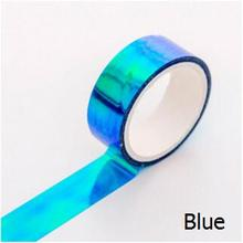 Glitter Rainbow Laser Washi Tape Stationery Scrapbooking Decorative Adhesive Tapes DIY Masking Tape School Supplies Papeleria(China)