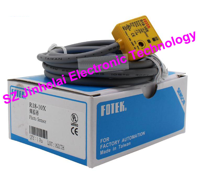 100% New and original FOTEK Photoelectric switch  R18-10X 100% new and original fotek photoelectric switch mr 10x npn