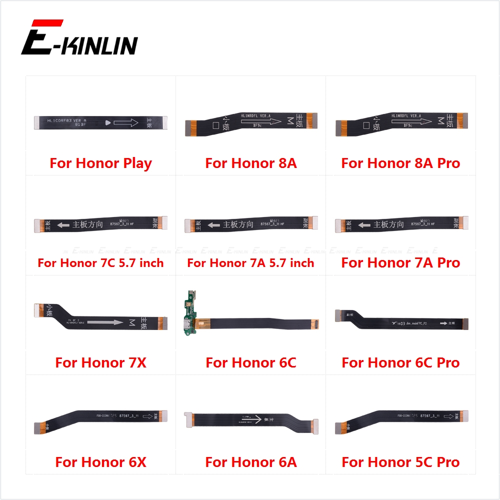 Main Motherboard Connector LCD Display Flex Cable For HuaWei Honor Play 8A 7C 7A 7X 6C 6A 6X 5C Pro