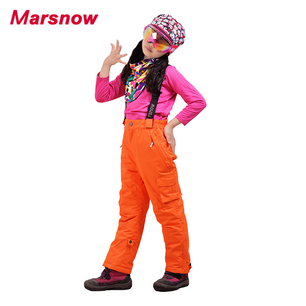 f486631ecf4e 2017 Marsnow Snowboarding Pants Winter Thicken Boys Girls Kids ...