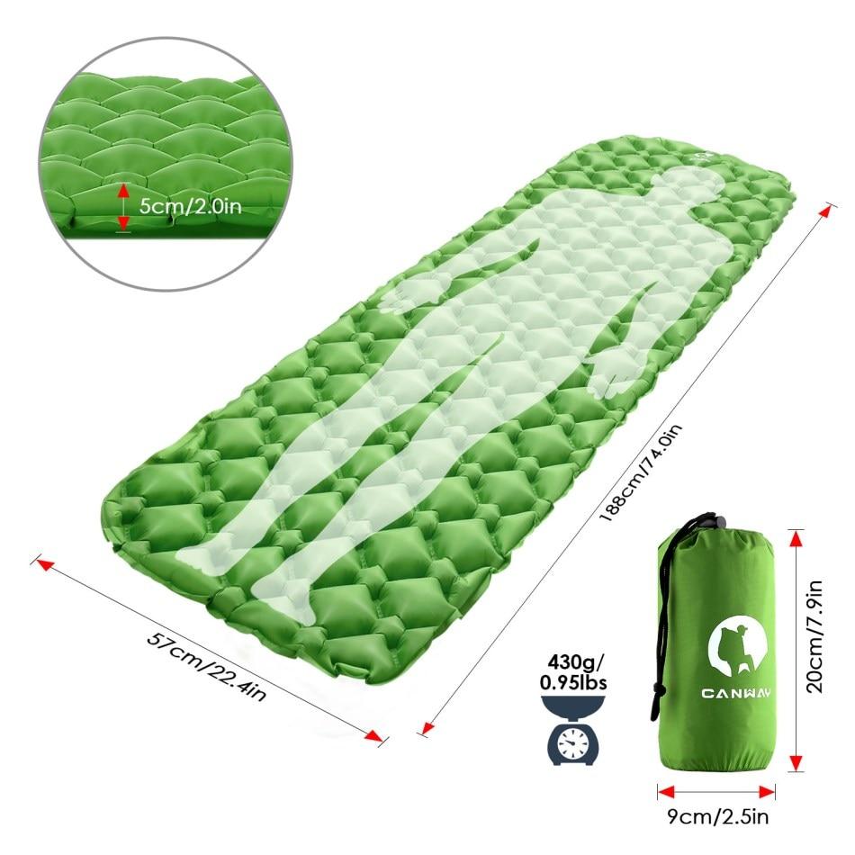 CANWAY Aufblasbare Isomatte Isomatte Outdoor Wandern Picknick Zelt