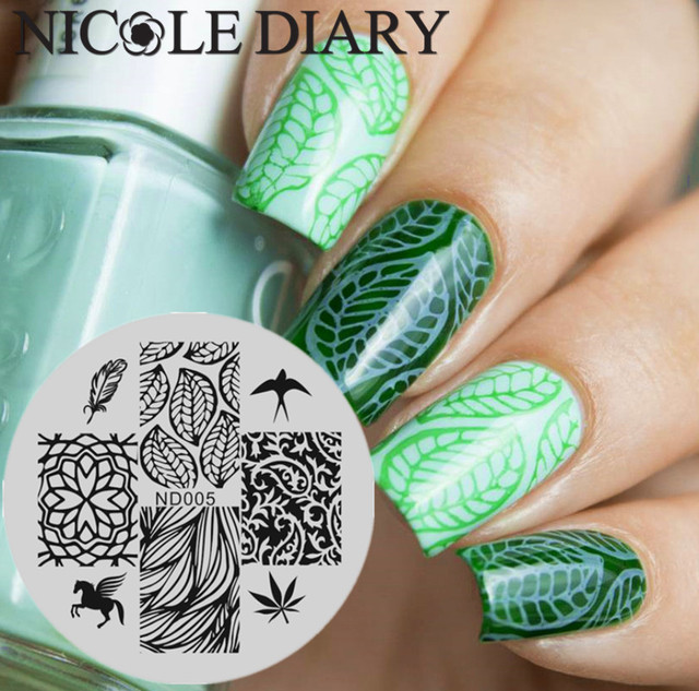 NICOLE DIARY 005 Nail Art Stamping Image Plates Stainless Steel High ...