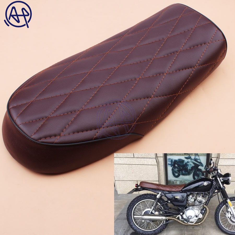 Motorcycle Seat PU Leather Vintage Seat Flat Saddle for CG125 GN CG CB200 CB350 CB400SS CB500 CB750 SR400 SR500 XJ XS