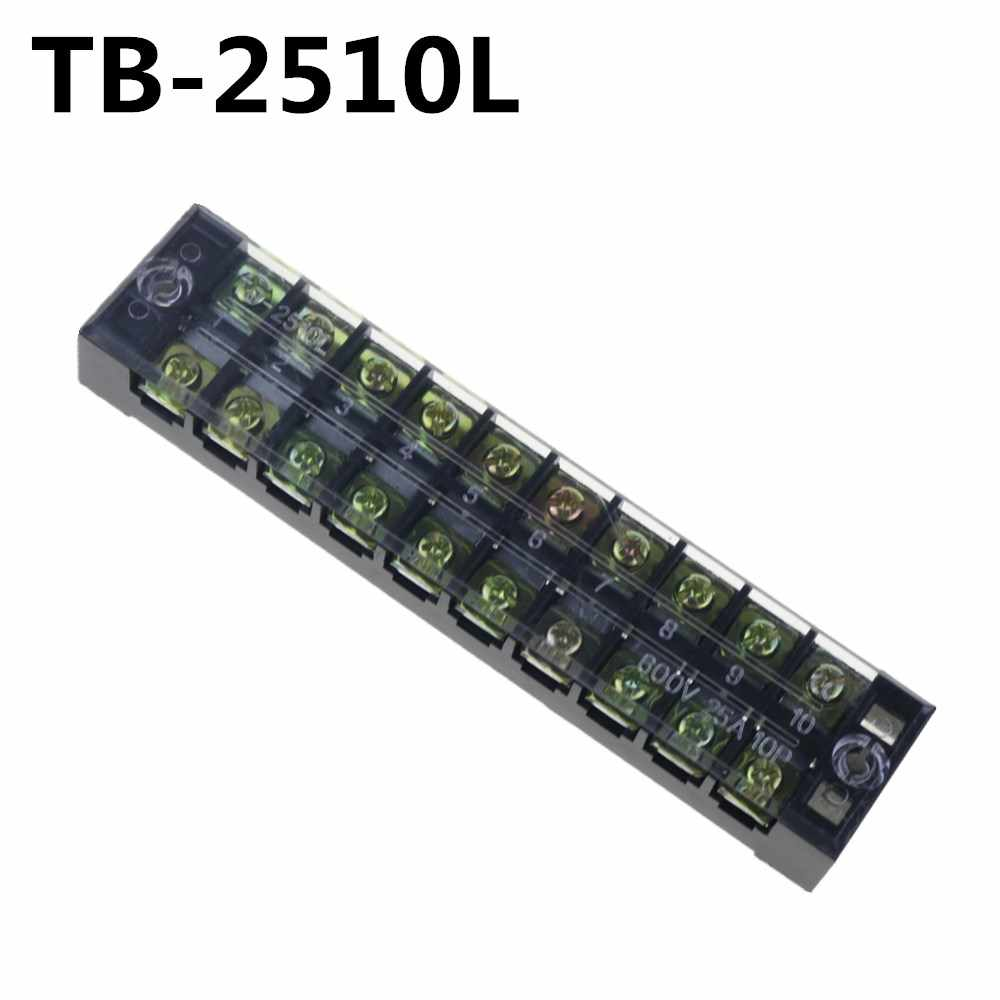 2pcs terminal blocks tb 2510 (25a 10p) patch panel wiring row junction  box|terminal block|wire patch paneljunction block - aliexpress  aliexpress