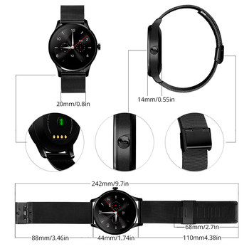 ColMi K88H Bluetooth Smart Watch Classic Health Metal Smartwatch Heart Rate  Monitor For Android