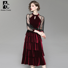286ef5aa4146b Buy wine red velvet gown and get free shipping on AliExpress.com