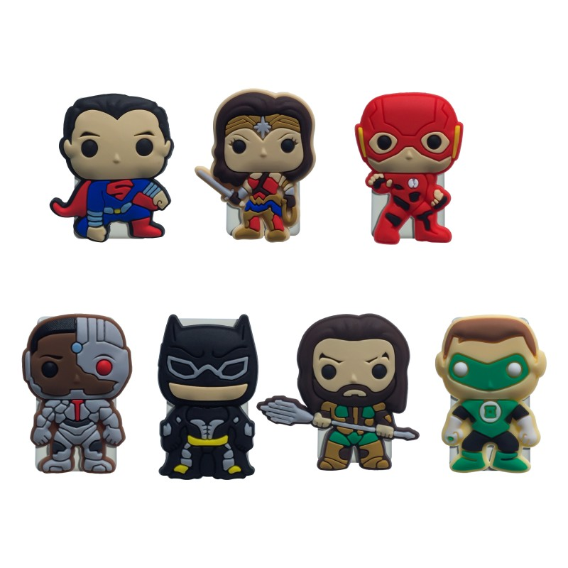 1pcs Justice League Paper Clips Binding Supplies Bookmarks For Books Cute DIY Binder Clips For Note Paper Stationery Kids Gift