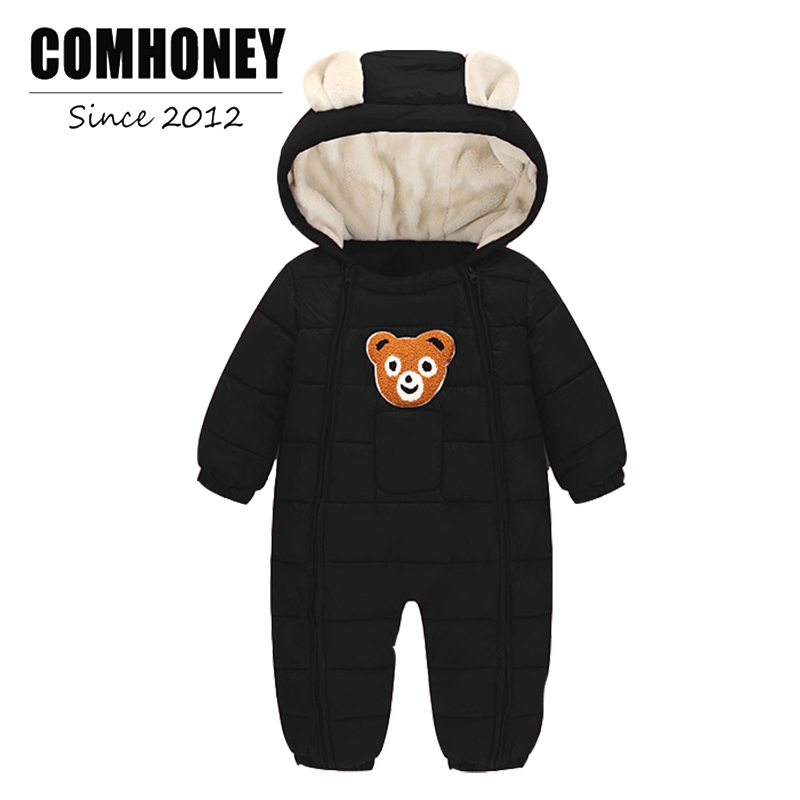 Baby Winter Rompers for Newborn Warm Jumpsuit Thick Down Cotton Bear Pattern 0-3T Infant Boy Girls Toddler Overalls Bebe Clothes newborn baby rompers baby clothing 100% cotton infant jumpsuit ropa bebe long sleeve girl boys rompers costumes baby romper