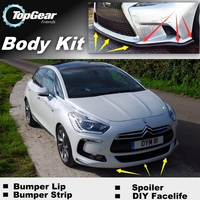 Bumper Lip Deflector Lips For Citroen DS5 DS 5 LS Front Spoiler Skirt For TopGear Friends to Car View Tuning / Body Kit / Strip