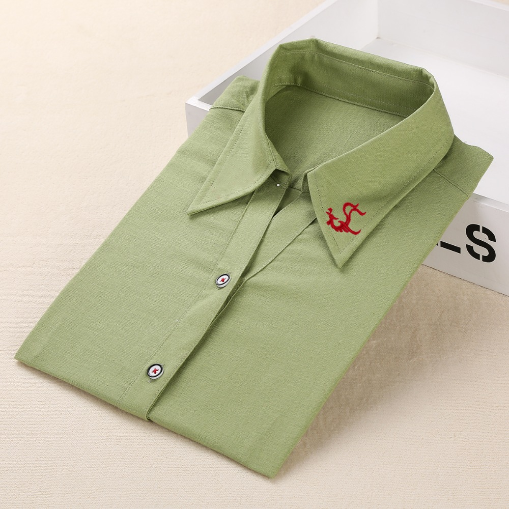 Dioufond New Brand Shirt Damen Langarm Bluse Baumwolle Plus Size - Damenbekleidung - Foto 2