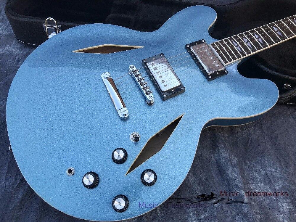Della cina chitarra OEM firehawk Da1ve Grohl D firehawk luce blu Chitarra Elettrica di metallo commercio all'ingrosso, promozione delle vendite,