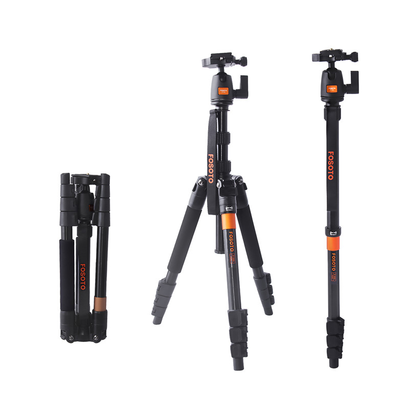 fosoto F-555 Professional Portable Magnesium Aluminium Alloy Q555 Camera Tripod Monopod Stand & Ball Head For Canon Nikon Sony