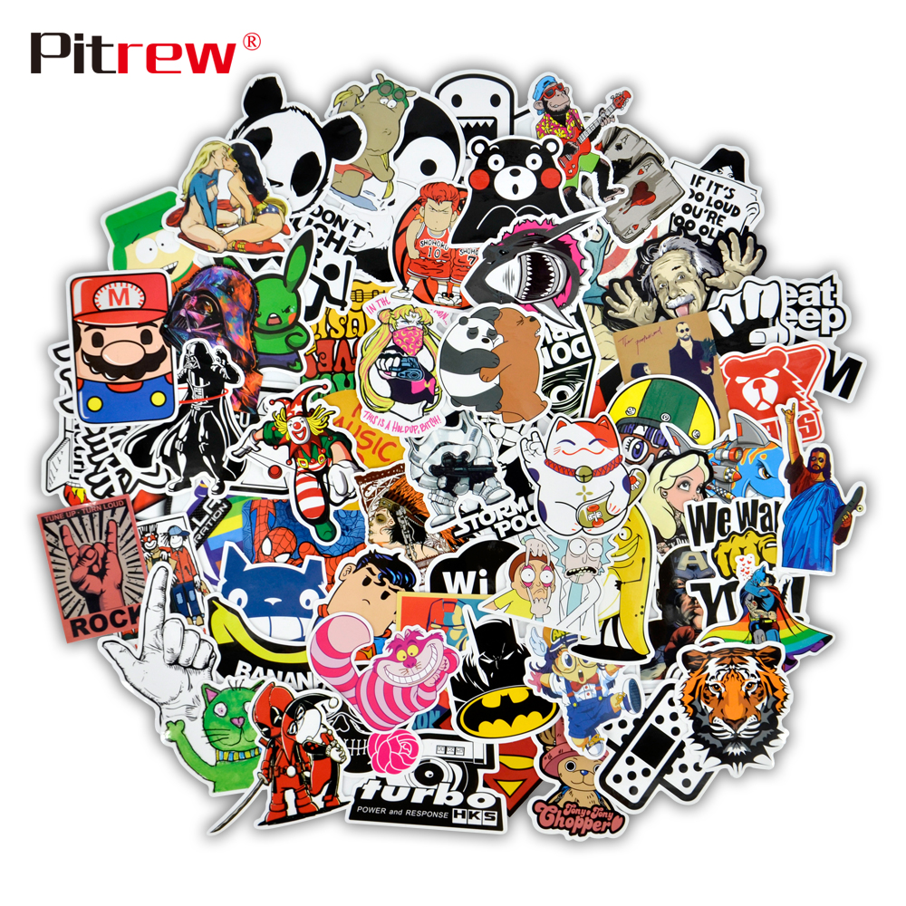 50 PCS Funny Car Stickers on Motorcycle Suitcase Home Decor Phone Laptop Covers DIY Vinyl Decal Sticker Bomb JDM Car Styling-in Car Stickers from Automobiles & Motorcycles on Aliexpress.com | Alibaba Group