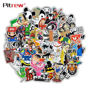 50 PCS Funny Car Stickers Home Decor DIY Vinyl Decal Sticker Bomb JDM Car Styling