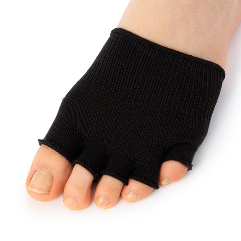 1 Pair Gel-Lined Compression Heel Pain Relief Toe Separating Socks Scolour