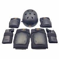 LANOVA7pcs/Set patins Conjunto protectora Rodilleras Coderas Protección para Scooter Ciclismo Patinaje casco Protector de la Muñeca