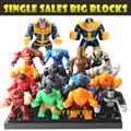 Single Sale Kids Large Block Toys Marvel  Avengers Thanos Hulk Venom Ironman Building Blocks Toys