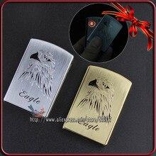 โลหะนกอินทรีออกแบบออกแบบW Indproof Flamelessบุหรี่โลหะอิเล็กทรอนิกส์USBไฟแช็ก