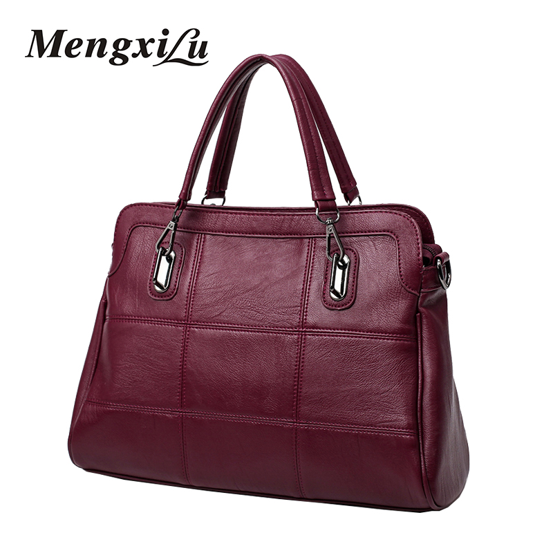 High Quality Women Handbag Female PU Leather Bag Large Capacity Black Tote Bag Female Shoulder Bag Fashion Patchwork Handbag high quality authentic famous polo golf double clothing bag men travel golf shoes bag custom handbag large capacity45 26 34 cm