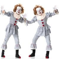 Halloween Adult Cosplay Clown Costumes Carnival Returning Soul Costume Christmas Stage Performance Suit Scary Evening Clothing