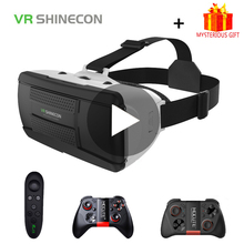 VR Shinecon G06B 3D Glasses Virtual Reality For iPhone Android Smartphone Smart Phone Gaming Goggles Casque Mobile Lense Games цена