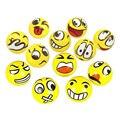 12 pçs/lote DIVERTIDO Moderno Emoji Rosto Bolas Squeeze Stress Relax Emocional Mão Wrist Exercício Bolas de Brinquedo Stress
